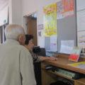学園の一角に、少し前に悦子先生にお贈りした大坪先生の「天使たち」の本が置かれていました。