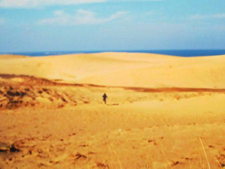 鳥取砂丘にて…