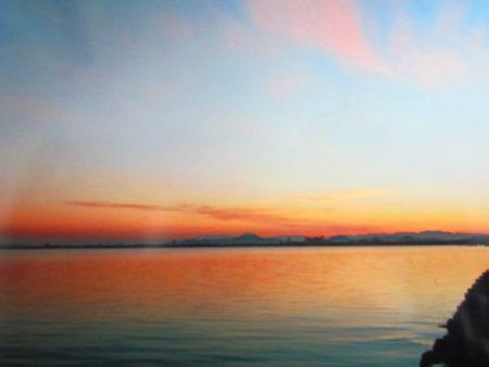 納沙布岬に向かう途中に見た朝焼け(北海道)
