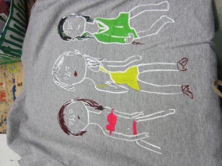 原画をTシャツに