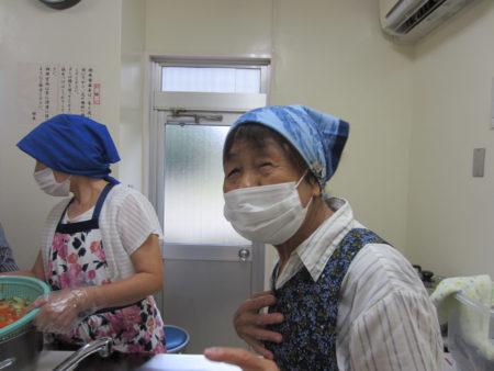 ボランティアの最高齢は、上久木田セツ子さん。80代です!