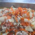 冬瓜と豚肉の味噌炒め