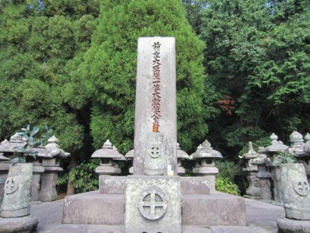 明治20年 に亡くなった際には、国葬が執り行われた
