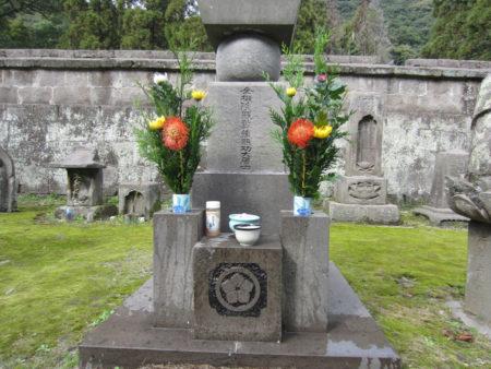 調所さんのお墓も福昌寺跡にあります