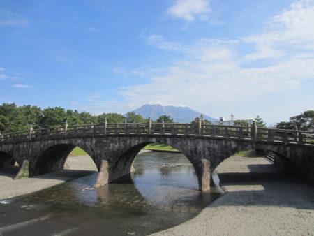 石橋が移設保存されている石橋記念公園(鹿児島市祇園之洲)
