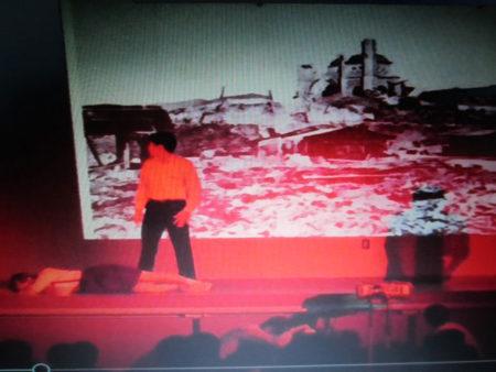 清子さんの体験をもとにつくった創作劇「伝言」(今年10月)