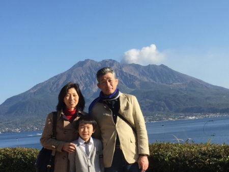 お父さんとお母さんと島津家別邸「仙厳園」に行ってきました!