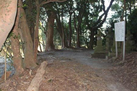 うっそうとした墓所