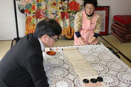 竹川先生の説明を熱心に聞いてらっしゃいました。