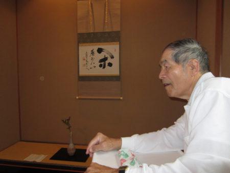 茶道教室での谷山宗徳先生