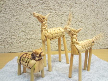 ホウキの産地、栃木県の郷土玩具「きびがら細工」