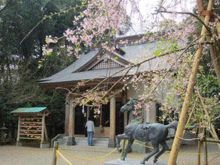 丘の頂上にある母智丘神社