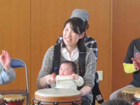 生後2ヶ月半の赤ちゃんと参加…