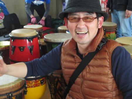 福岡から参加した天野英樹さん 仕事はコンサルタント業