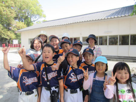 地域のスポーツ少年団の子供たち…  僕らも頑張って助けます!