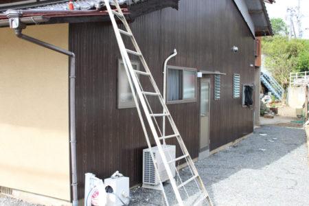 避難に使ったはしご