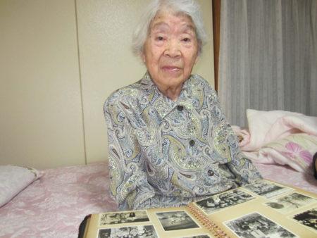 旧満州からの引き揚げ体験者  小平田ツルさん(96)