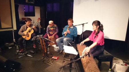 ギターと尺八とのデュオユニットにゲスト出演(2017年)