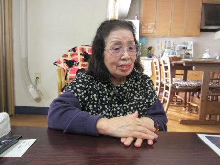 長崎で被爆した久保清子さん(79)