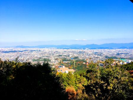 油山から見た福岡市