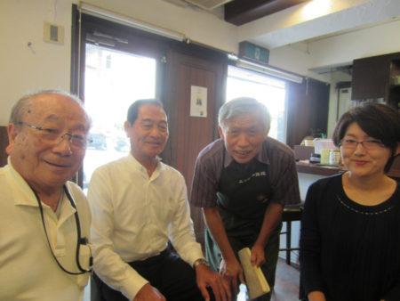 庄内の先輩方と共に鹿児島を訪れた廣嶋育子さん