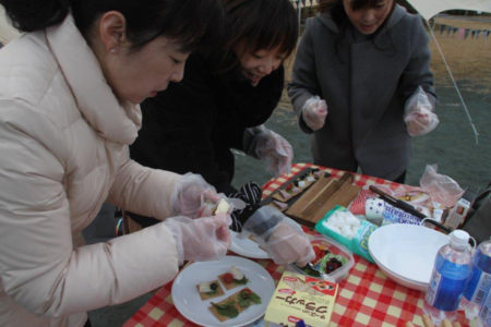 カナッペや焼きマシュマロを試作