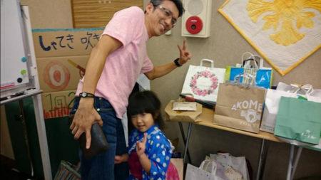 有村さん親子も夏祭りに参加!