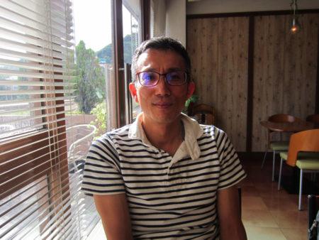 介護体験を語る有村宣彦さん(去年9月)