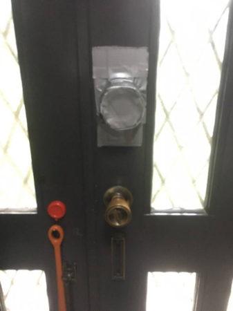 『ごめんね』と思いながらの玄関の施錠でした!