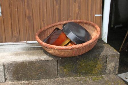 洗ったお重箱やお皿がざるに干してありました準備が大変だっただろうな…ありがとうございます!