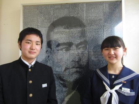 リーダー村松龍也くん(左) サブリーダー鳥井口華夢さん(右)
