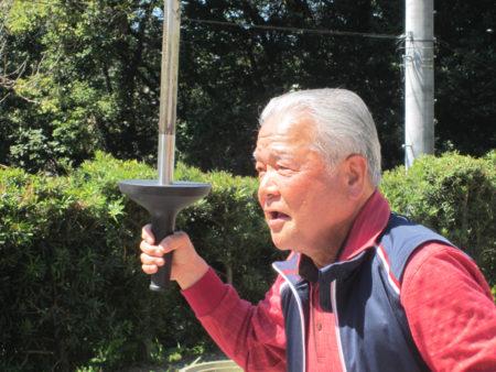 東京オリンピックで聖火ランナーを務めた伊地知好和さん(鹿児島市)