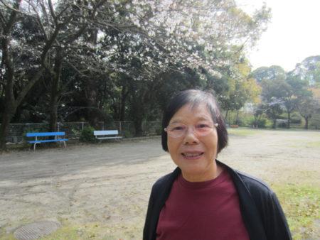 いしき園で33年間勤務してきた西郷ヨシ子さん