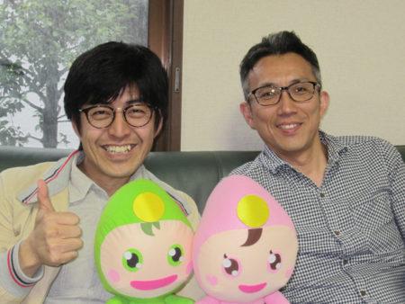 水口義夫さん(左)と有村宣彦さん(右)