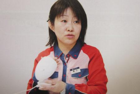 自ら働きかけて職場にコミューンを導入した青木知子さん(東京ドーム勤務)
