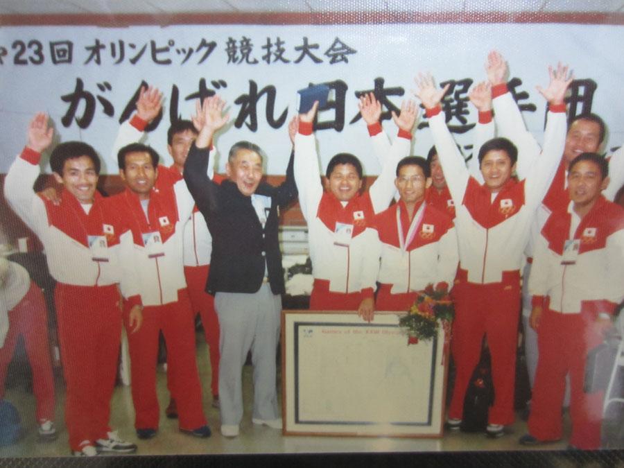 ロサンゼルスオリンピックの日本選手団と…(1984年)