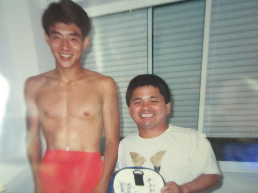 テニスがオリンピック競技に復活し 応援に駆け付けた松岡修造さんと…(1988年・ソウル大会)