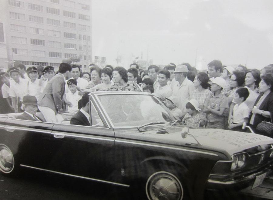 ミュンヘン大会後の市中パレード(鹿児島市)