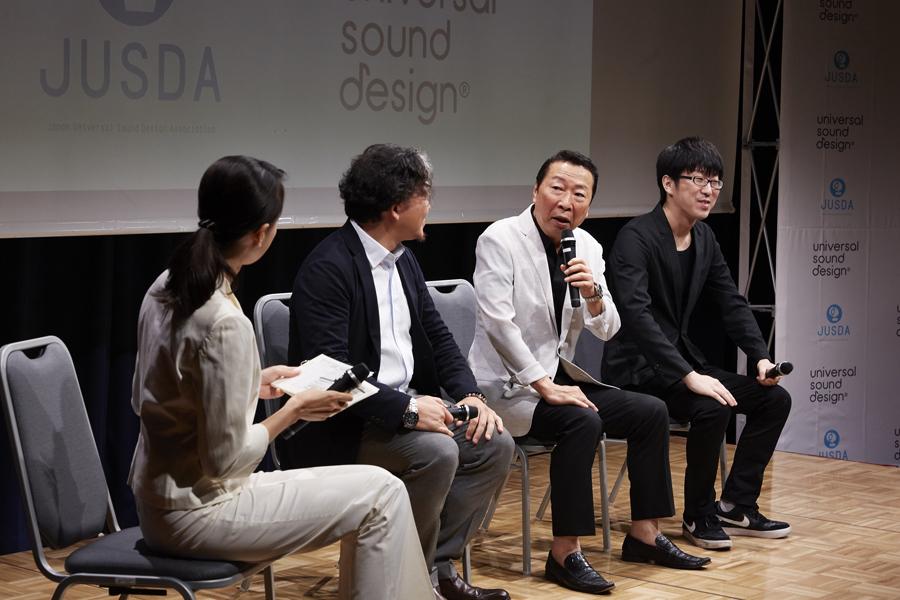 製作発表会での石倉三郎さんと犬童一利監督とのトークショー (9月17日・東京)