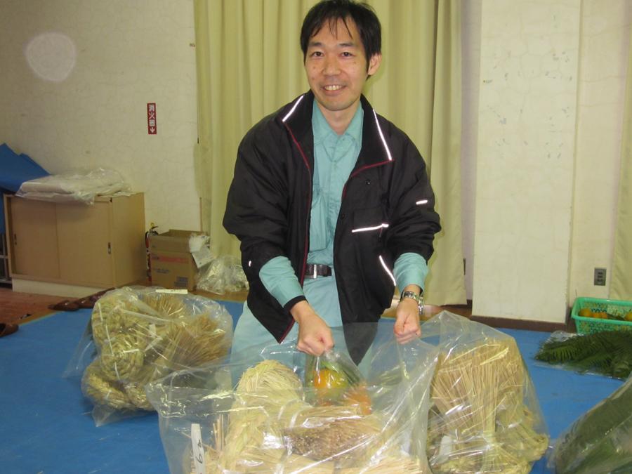 運輸会社のこの方は、袋いっぱいに持ち帰りました