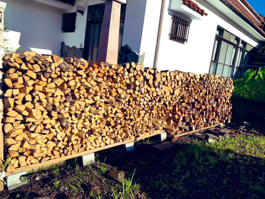 伊佐は林業が盛んで、薪が豊富