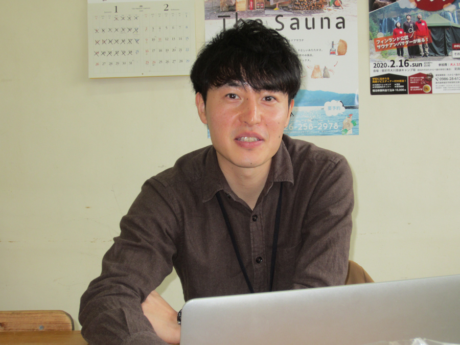 令和元年度鹿児島県ビジネスプランコンテストで大賞を受賞した林峻平さん(伊佐市・地域おこし協力隊)