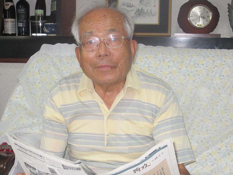少年時代の戦争体験を語って下さった 鹿児島市の小松勝さん(88)