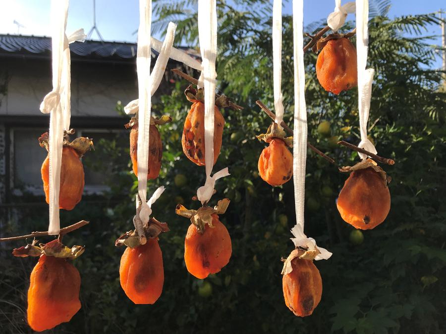 それから5日から一週間くらいたった頃、また柿を揉みます。