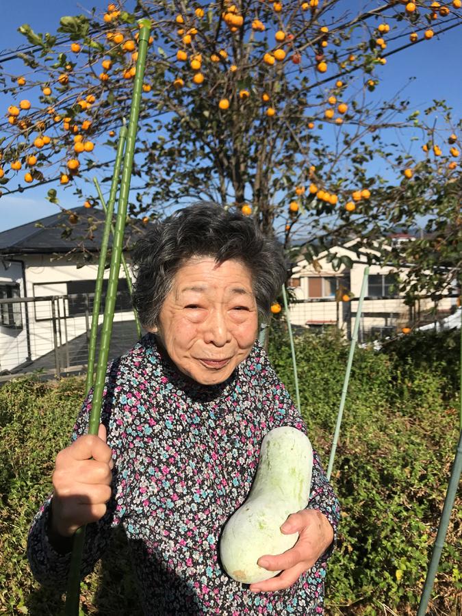 「今年は、柿もたくさん生ってるよ」と嬉しそう♪