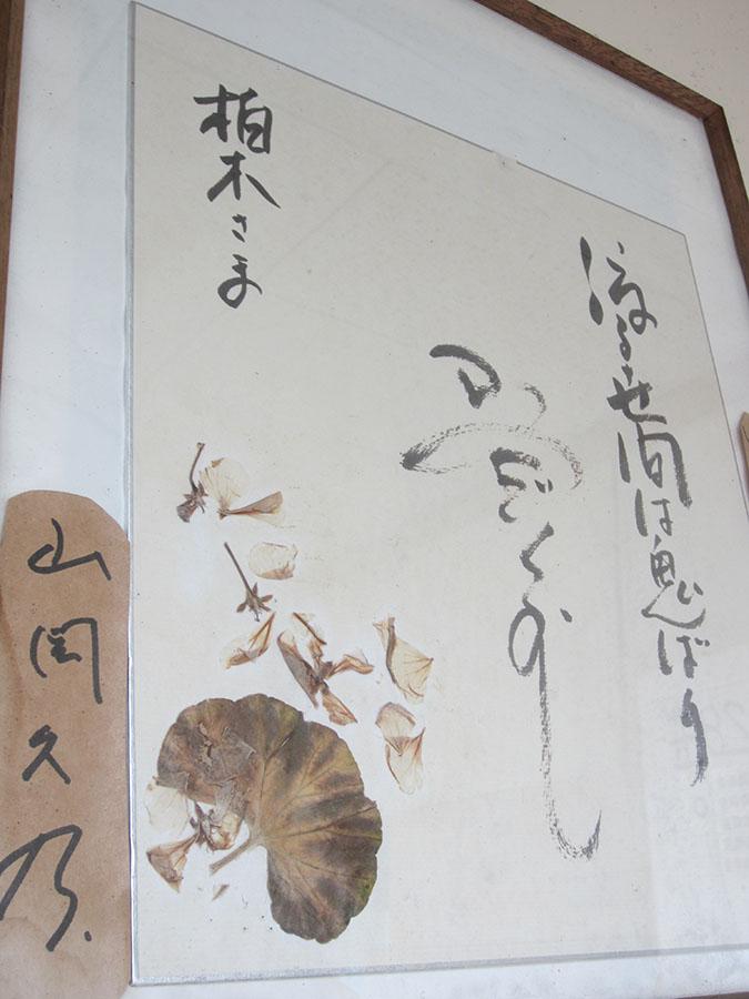 女優・山岡久乃さんから届いた色紙