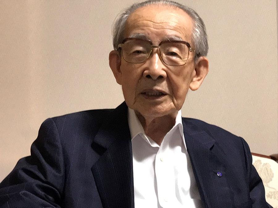 鹿児島大空襲の体験を話して下さった海江田順三郎さん(93)