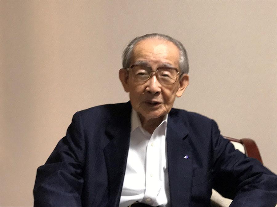 鹿児島への里心から空襲に遭うことになったと語る       海江田さん