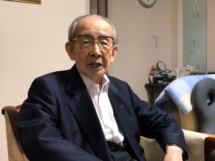 鹿児島大空襲を体験した海江田順三郎さん(93)