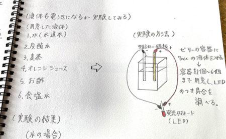 夏休みを前に・・小学生の自由研究のヒント~フルーツ電池・液体電池の実験~後編